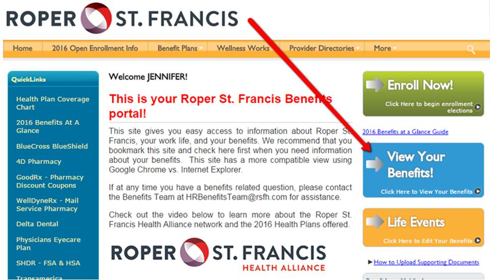 Benefits Portal Step 1